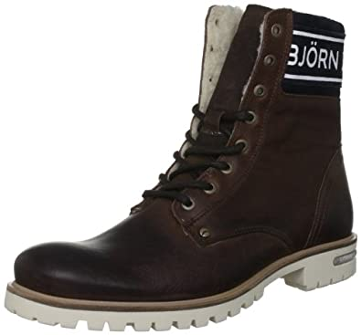 bjorn borg s kevin high brown lace up boot