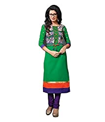 Orabelle Women's Un-Stitched Dress Material (Orabelle_mastani_3311_Green_Free Size)