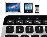 Logitech Bluetooth Easy-Switch K811 Keyboard for Mac iPad iPhone - Silver/Black