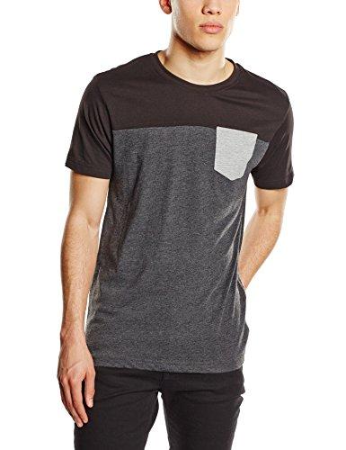 Urban Classics - T-shirt 3-Tone Pocket Tee, Maglia a maniche lunghe Uomo, Multicolore (Cha/Blk/Gry), XX-Large (Taglia Produttore: XX-Large)