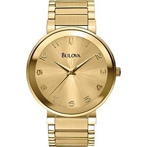 Bulova 97L126 Ladies Gold Dress Watch