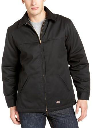 Dickies Men's Hip Length Twill Jacket, Black, Small