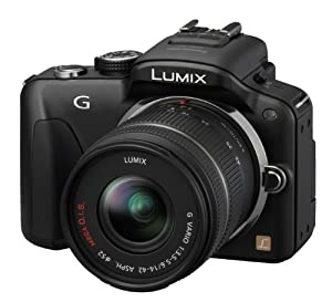 Panasonic Lumix G3 16.1MP Compact System Camera Kit - Black with 14-42mm Lumix G VARIO f/3.5-5.6 ASPH MEGA OIS Lens