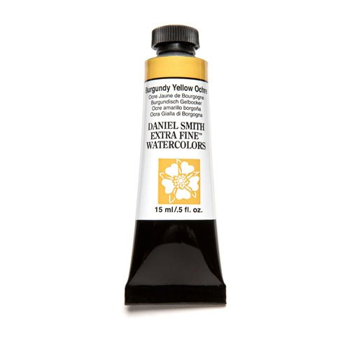 daniel-smith-extra-fine-watercolor-15ml-paint-tube-burgundy-yellow-ochre