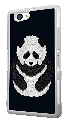 337 - Pattern Panda cute Design für Alle Sony Xperia Z / Sony Xperia Z1 / Sony Xperia Z2 / Sony Xperia Z3 / Sony Xperia Z4 / Sony Xperia Z1 Compact / Sony Xperia Z2 Compact / Sony Xperia Z3 Compact / Sony Xperia Z4 Compact / Sony Xperia M2 / Sony Xperia M4 Fashion Trend Hülle Schutzhülle Case Cover Metall und Kunststoff - Bitte wählen Sie Ihr Telefonmodell und Farbe aus der Dropbox