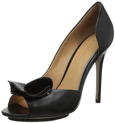 Badgley Mischka Women's Tarian D'Orsay Pump,Black Leather,5.5 M US