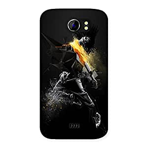 AJAYENTERPRISES Dance SteppBlack Man Back Case Cover for Micromax Canvas 2 A110