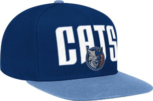 NBA Charlotte Bobcats Wool Blend Adjustable Snapback Hat, One Size,Blue