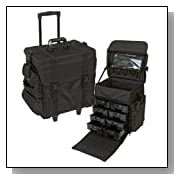 Pro Soft Sided Rolling Cosmetic Makeup Case w/ Trays