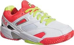 Fila Kid\'s Sentinel White Tennis Sneakers 4 M