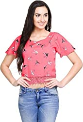 Addyvero Women's Desire Red Crop top