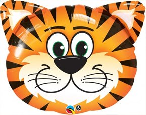 "Tiger Shape Face Jungle Safari Zoo Birthday Party Supply Baby Shower 30"" Balloon"