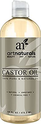 Art Naturals 100% Pure Castor Oil 16 oz - Best Massage Oil & Moisturizer for Hair and Skin