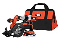 Black & Decker BDCD220CS 20-volt Max Drill/Driver and Circular Saw Kit by Black & Decker