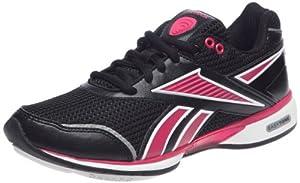 Reebok Easytone Reecomm, chaussures marche femme - Noir/Rose/Blanc/Argent, 36 EU