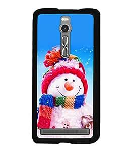 printtech Designer Snowmen Christmas Back Case Cover for Asus Zenfone 2 , Asus Znfone 2 ZE550ML