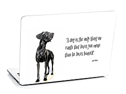 3M clickforsign 'Official' Dogs Faith Quote Laptop Skin / Decals EG-0393
