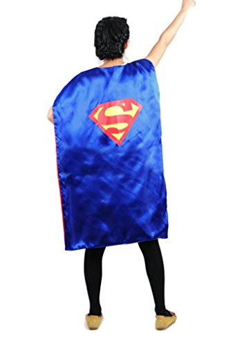 [Rush Dance Deluxe Comics Teen or Adult Satin Unisex Super Hero save the day CAPE (Blue Superman)] (Child Deluxe Peter Pan Costumes)