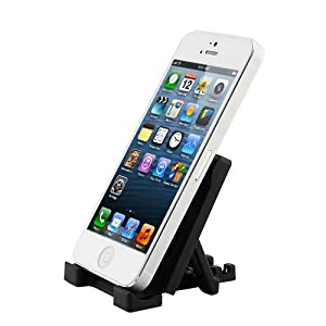 ikross Black Universal Portable Collapsible Desk Stand holder For Smartphones, MP3 Players, iPhone
