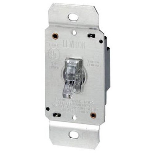 Leviton 6691 600W Incandescent Toggle Dimmer, Single Pole, Clear (Levitron Electronic Dimmer compare prices)
