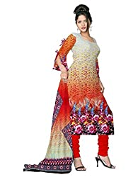 BalajiWomen's Crepe Unstitched dress material(206-multicolor-free size)