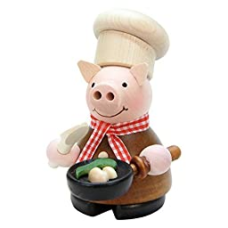 1-659 - Christian Ulbricht Incense Burner - Lucky Pig Chef - 4.5''''H x 3''''W x 3.5''''D by Taron Collections
