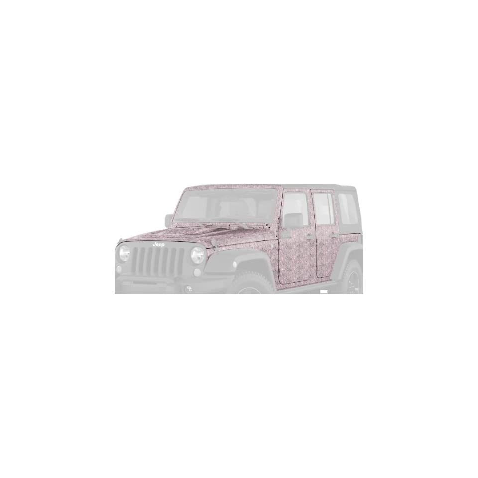 Mossy Oak Graphics 13001-BUP-L Break-Up Pink 17 x 9.25 4x4 Off-Road Style Decal
