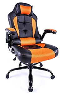 High Back Office Chair Recliner Racing Style Swivel Chair Gaming Video Game by Aminiture