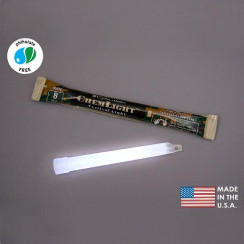 (10 Pack) Cyalume Light sticks 9-51460PF - NSN 6260-01-218-5146 - 6 in. ChemLight - White - 8 Hours - Military Grade