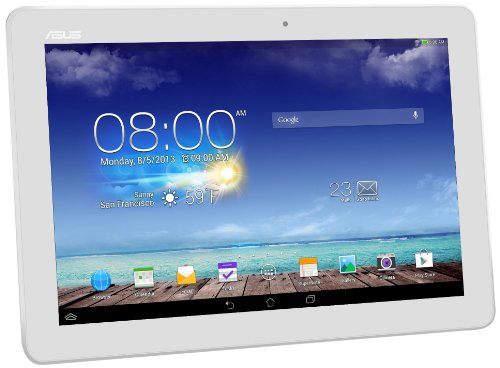Asus Memopad 10 ME102A 25,40 cm (10 Zoll) Tablet PCs (ASUS RK101 CPU 1,6Ghz Quad-core, 1GB RAM, 16GB HDD, Mail400 MP4, Android Touchscreen) weiß