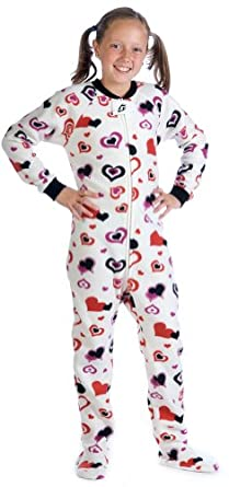 Footed Pajamas Lots of Luv Kids Fleece - XSmall
