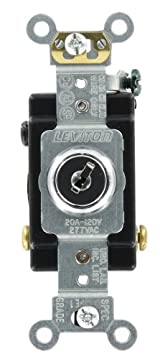 20 Amp, 120/277 Volt, Key Locking, 3-Way AC Quiet Switch, Extra Heavy Duty Grade, Chrome, 1223-2KL