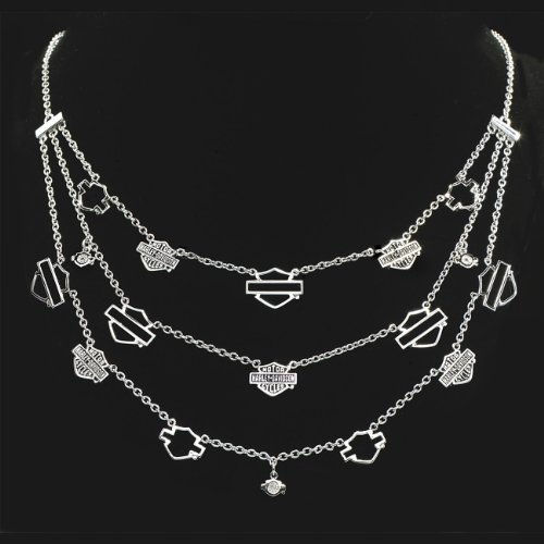 Sterling Silver Ladies Triple Strand Necklace