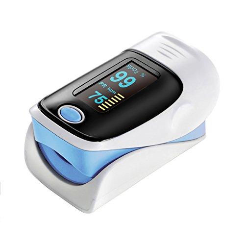 Tera Ossimetro di impulso Saturimetro e Cardiofrequenzimetro per bambini e adulto(Peso corporeo di 15kg-110kg)
