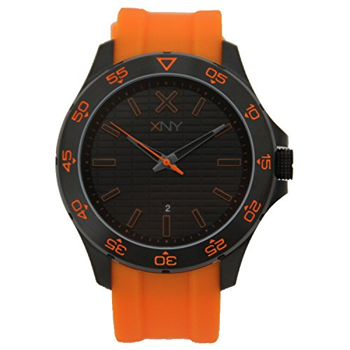 XNY Men's Watch Urban Expedition Orange Silicone Strap BV8085X1 (Old Seiko Watches For Men compare prices)