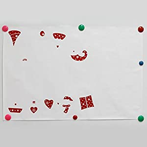 Great Value Wall Decor Glass Wall Stickers Removable Wallpaper Window Dual Windows Wall Stickers Large White & Red by Mzamzi