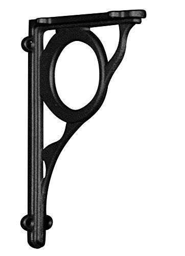 Cast Iron Corbel in Flat Black Finish (Metal Decorative Bracket) - Dimensions: 9 X 1 1/2 X 6 Inches (Black Wood Shelf Bracket compare prices)