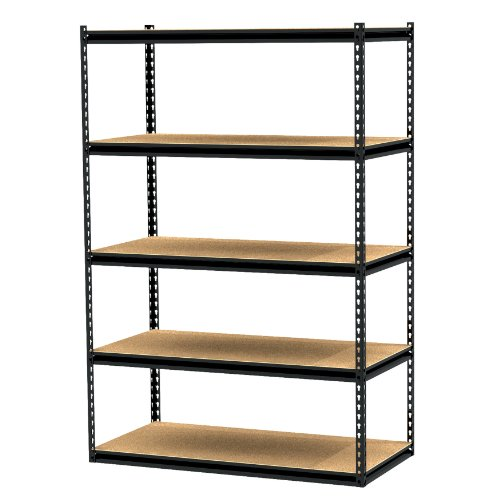 Images for Gorilla Rack GRZ6-4824-5PCB 48 by 24 by 72-Inch Shelving Unit with 5-shelf, Black