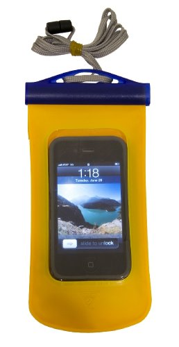 """Seattle Sports 042226 E-Merse Dry Padded Waterproof Cell Phone Case (Yellow Size 7"""" x 3.25"""")"""