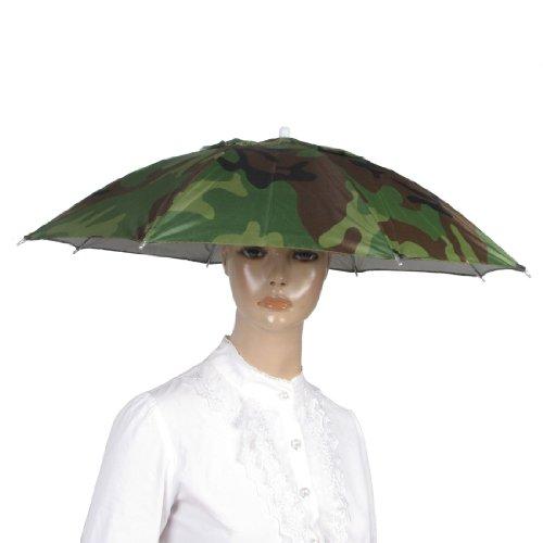 SODIAL(R) 釣りの弾性ヘッドバンドの迷彩の傘、帽子