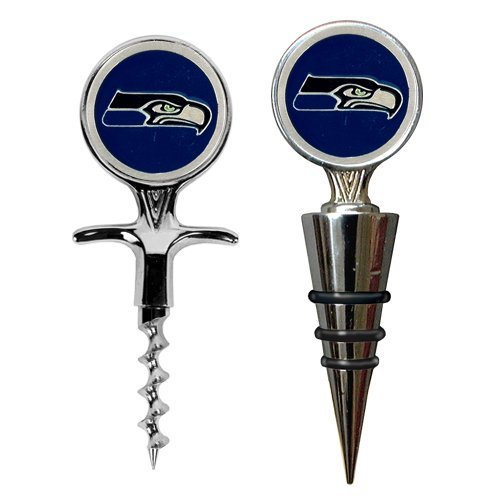 Seattle Seahawks Cork Screw and Wine Bottle Topper Set at Amazon.com