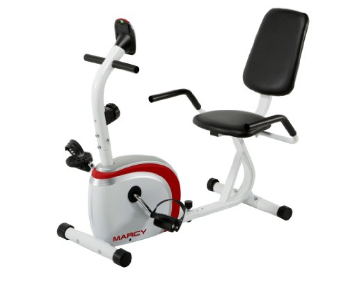 Marcy Recumbent Exercise Bike, White