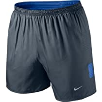 "Nike Mens Dri-Fit 5"" Race Shorts Medium Armory Navy/Prize Blue"