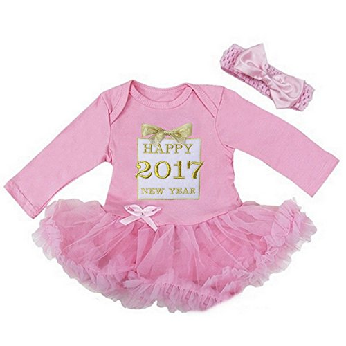 Kirei Sui Baby Happy 2017 New Year Gold Gift Bodysuit Small Pink