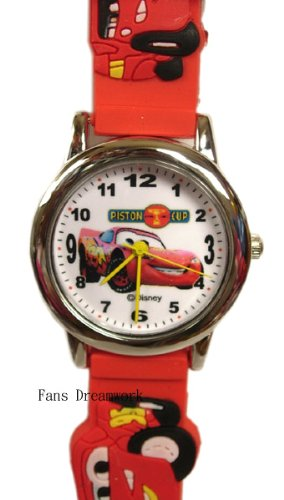 Red Rubber Band Cars Watch - Disney Cars Watch