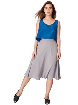 American Apparel Mid-Length Circle Skirt - Aluminum / XS