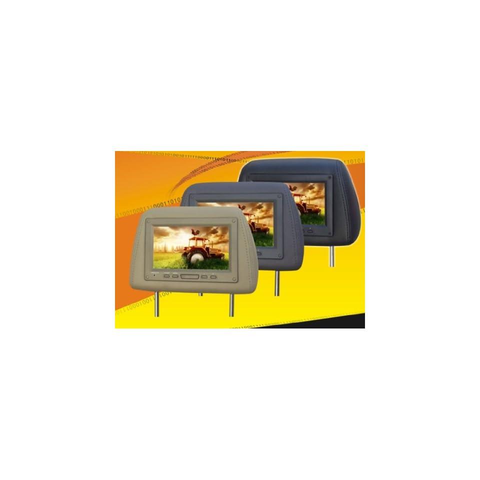 NEW TVIEW UNIVERSAL 7 BEIGE/TAN HEADREST CAR MONITORS