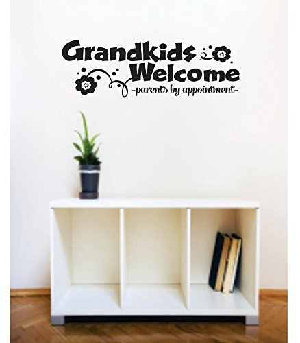 Design with Vinyl 2 C 2362 Decor Item Grandkids Welcome Parents By Appointment Image Quote Wall Decal Sticker, 16 x 24-Inch, Black
