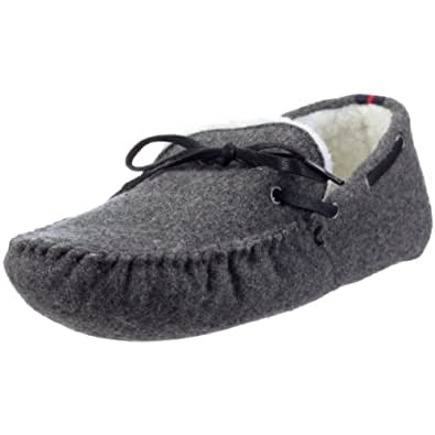 tommy hilfiger men 39 s wool slipper dark grey slipper. Black Bedroom Furniture Sets. Home Design Ideas