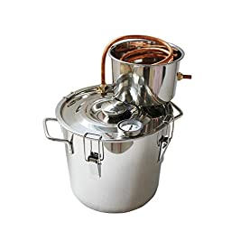 NEW 3 Gal 10L Copper Alcohol Wine Water Distiller Moonshine Still Stainless B...